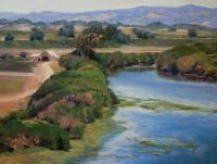 Pajaro River - Pastel Paintings - By Lisa Couper, Impressionism Painting Artist