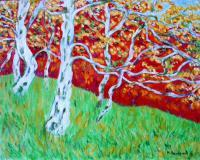 Landscape - Autunno - Oil On Canvas