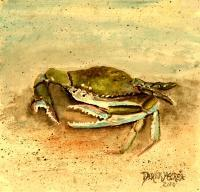 Art Of Derek Mccrea - Blue Crab Acrylic Painting - Acrylic