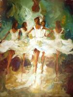 Dancing Stroks - Acrylic Paintings - By Alshaikh Aldaw, Impressionist Painting Artist