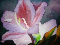Flower Painting - The Tree Orchid - Oil