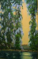 Georgia - Wysteria In Trees - Oil On Canvas