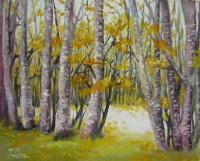 Landscape - Barren Trees - Oil On Canvas