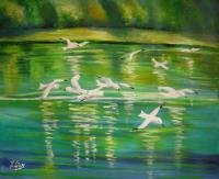Landscape - Melody In White 2 - Oil On Canvas
