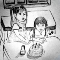 Black And White - Birthday - Pencil And Paper