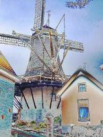 Windmill In Hattem - Digital Photography - By Yvette Efteland, Realistic Photography Artist