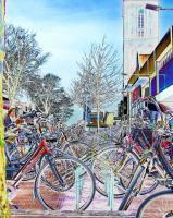 Bikes Galore - Digital Photography - By Yvette Efteland, Realistic Photography Artist