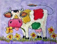 Buttercup - Acrylics Paintings - By Yvette Efteland, Yvettism Painting Artist