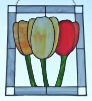 Stained Glass - Tulips - Glass