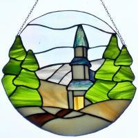 Stained Glass - Winter Landscape - Glass