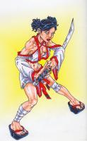 Character Designs - The Blind Swordswoman - Marker