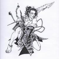 Character Designs - Keldis - Pencil And Ink