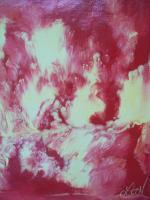 Fire Painting - Abstract Paintings - By Lana Kennedy, Abstract Painting Artist