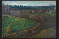 Moscow Region - Green Slope - Oil On Canvas