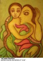 Painting - The Wise Serpent - Watercolour On Paper