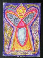 Angel Energy - Pencil Drawings - By Tina Polo, Channeled Drawing Artist