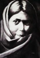 Portrait - The Only One - Contecharcoal