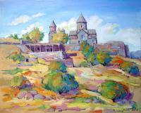 Landscape - Tekhers Church - Oil On Canvas