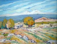 Landscape - Aragats Mountain - Oil On Canvas
