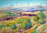 Landscape - Armenian Landscape - Oil On Canvas