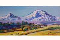 Landscape - Ararat Mountain - Acrylic On Canvas