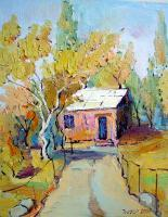 Village - Yuras House - Oil On Canvas