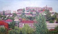 Urban - Yerevan View From My Window - Oil On Canvas