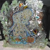 Senerity Of Soul With Child - Resin And Metal Mixed Media - By Stacey Watkins Martin, Glo Art Mixed Media Artist