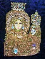 Our Lady Of Manaoag - Oil On Canvas Mixed Media - By Arlene Baccay, Realism Mixed Media Artist