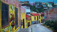 Bajada Cerro Valparaiso - Acrilic In Canvas Paintings - By Richard Greswell, Realism Painting Artist