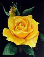 Floral - F 23 - Yellow Rose - Available For Sale - Acrylic