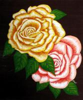 Nature - Two Roses - Acrylic