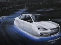 2014 Lexus - Acrylic On Canvas Paintings - By Marc Lambert, Fine Art Painting Artist