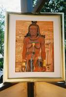Collection - Himba Woman In The Field - Watercolor