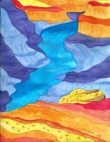 Landscape - Grand Canyon - Watercolor