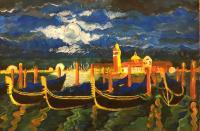 Travel - Venice At Night - Tempera