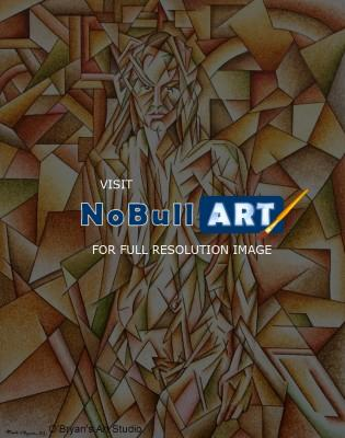 Paintings - Neo-Cubist Nude - Acrylics