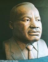 Portrait Busts - Dr Martin Luther King Jr - Ceramic