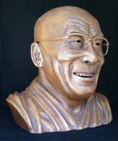 Portrait Busts - Ceramic Bust Sculpture Of H H The Dalai Lama - Ceramic