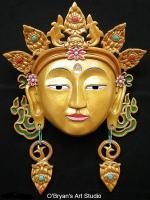 Masks - Tibetan Bodhisattva Mask - Artists Sculpting Medium
