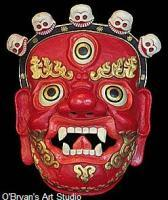 Masks - Tibetan Chokyong Demon Protector Mask - Artists Sculpting Medium