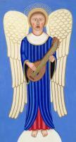 Illustration - Singing Angel Playng A Lute - Multi Media