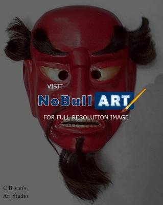 Masks - Japanese Sanju Bugaku Mask - Artists Sculpting Medium