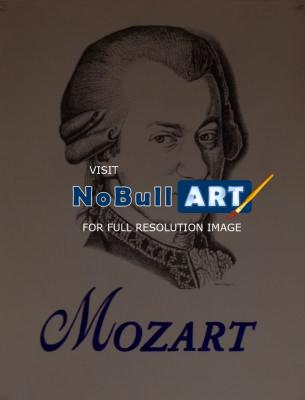 Illustration - Mozart Drawing - Ink