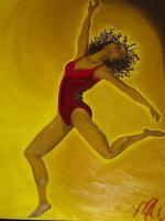 Dancing - Oil Paintings - By Marquita Rochelle, Realistic Painting Artist