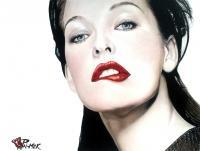 Milla - Colored Pencils Paintings - By Allen Palmer, Realism Painting Artist