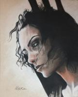 Art - Portrait Of Necia - Charcoal