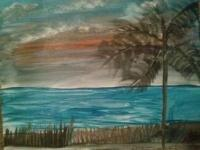 Watercolor Canvas - Sunset Waters - Watercolors