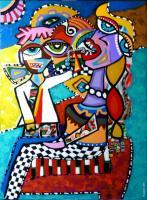 The Dentist - Acrylic On Canvas Paintings - By Magdalena Giesek, Primitiviest Painting Artist