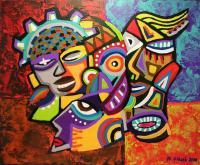 Artworks - Carnaval De Barranquilla - Acrylic On Canvas